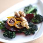 warm purple broccoli salad